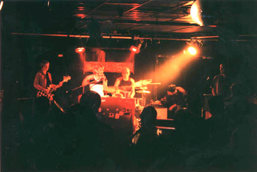 16th April 2000, Underground, Cologne, first gig with Lutz and Henrik, this shot was made by CW's friends Mama Guitar from Tokyo