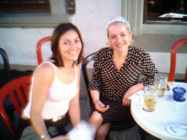 Athanasia & Cécile, July 2003