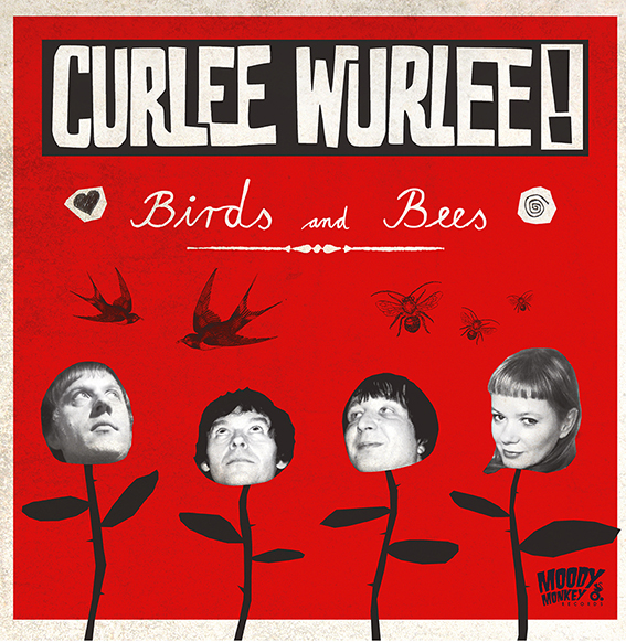Curlee Wurlee Birds and Bees - Cover Art  by Kai Becker