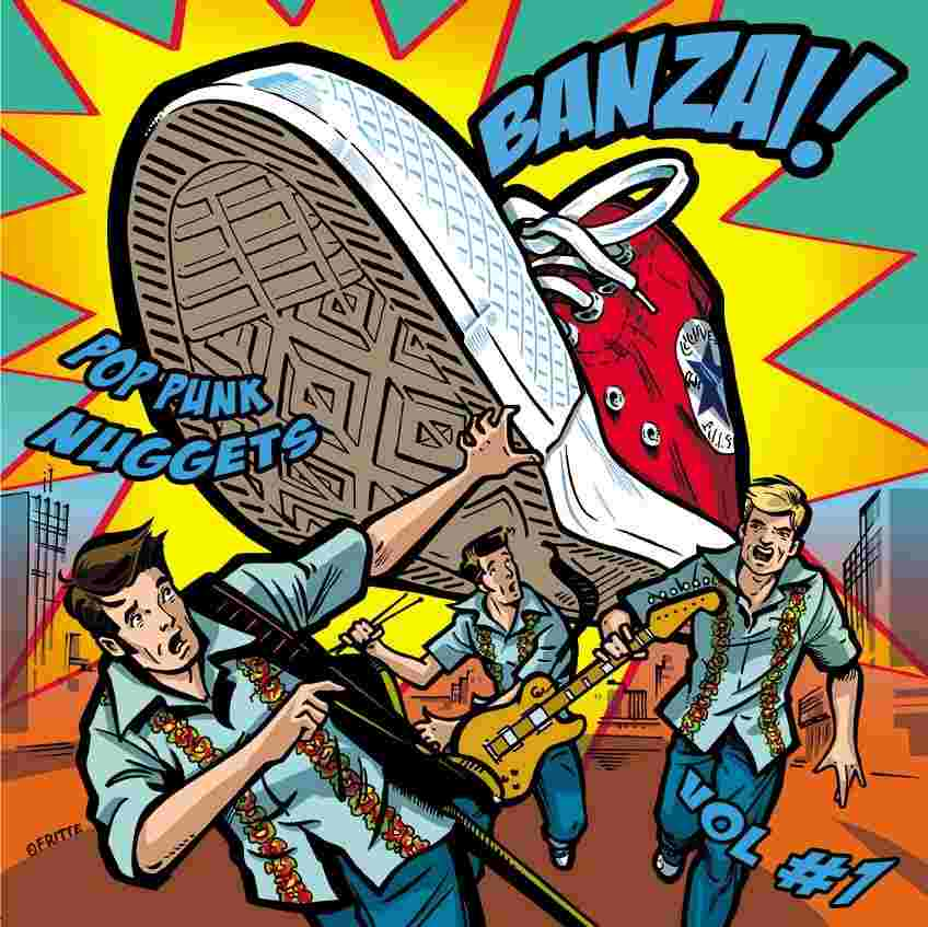 BANZAI! Pop Punk Nuggets #1 - Cover art by Fritte